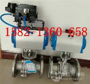 Q641F-16P DN100 AT型单/双作用气动不锈钢球阀