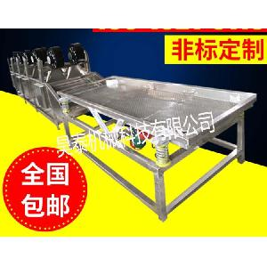 厂家直销食品震动筛 震动沥水布料机 清洗振动风干全套设备