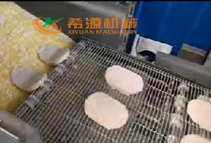 2018年新款汉堡肉饼上面包糠机厂家直销