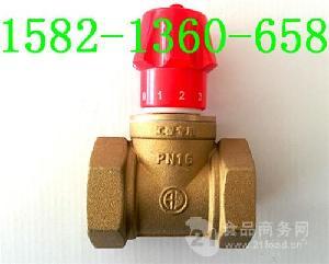 黄铜加厚内螺纹磁性锁闭调节阀DN25