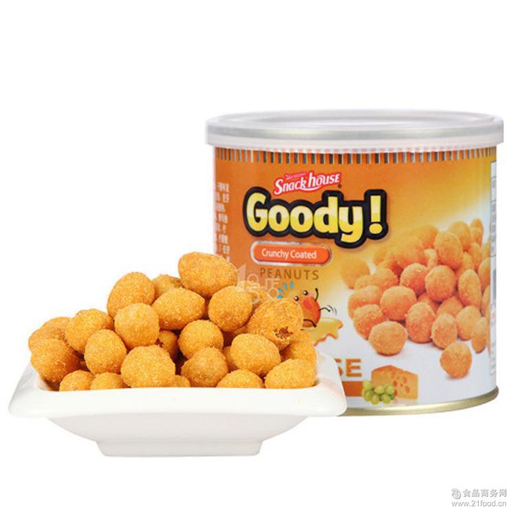 罐装零食批发 越南进口休闲食品150g戈蒂奶酪味脆皮花生豆
