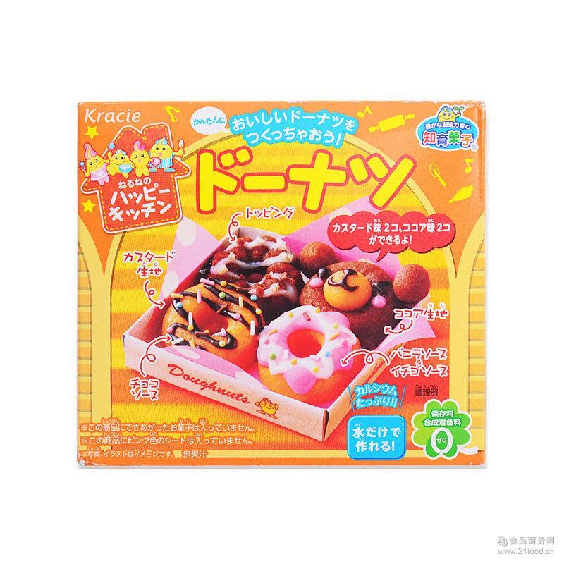 日本食玩_儿童手工diy手作甜甜圈食玩糖果41g嘉娜宝食玩日本进口零食批发