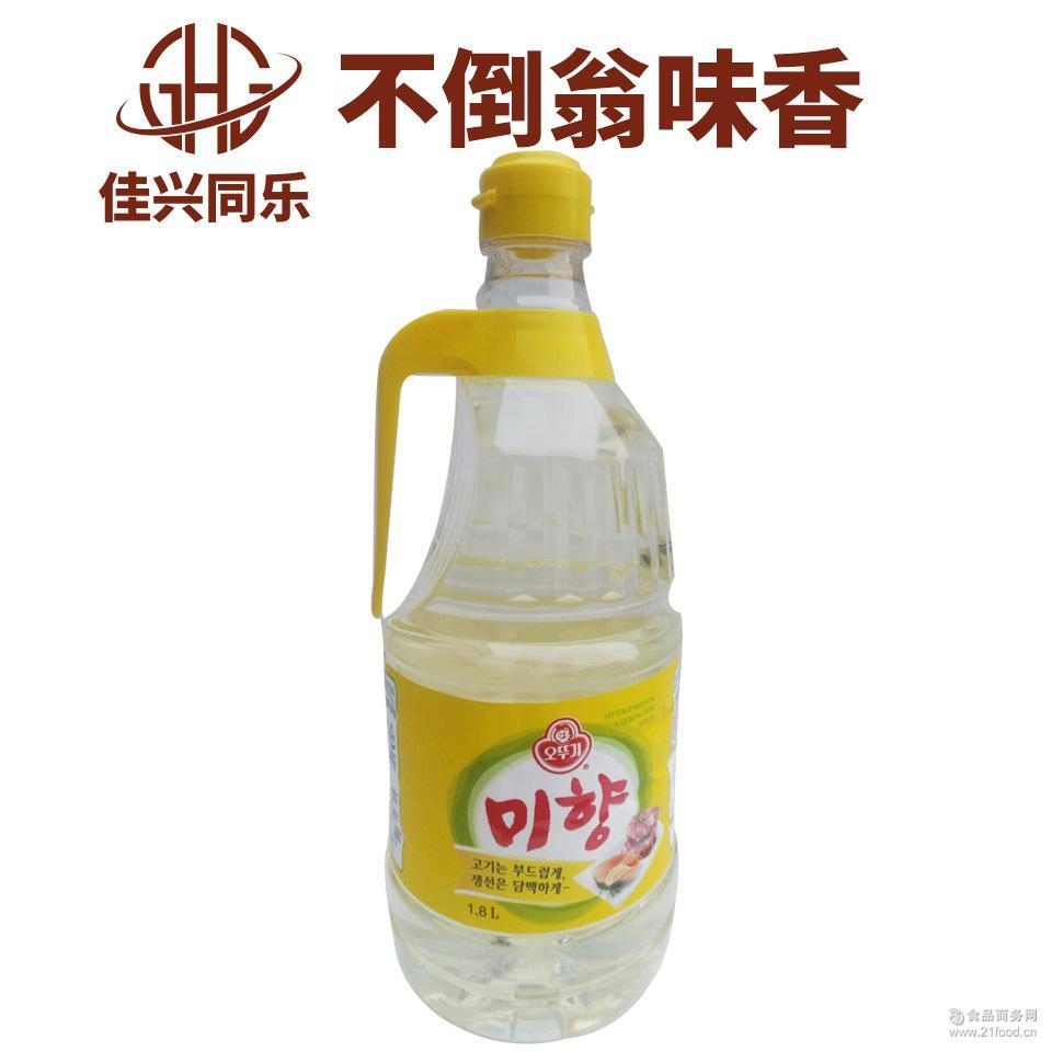 韩国进口调料料酒 不倒翁味香1.8*6/箱