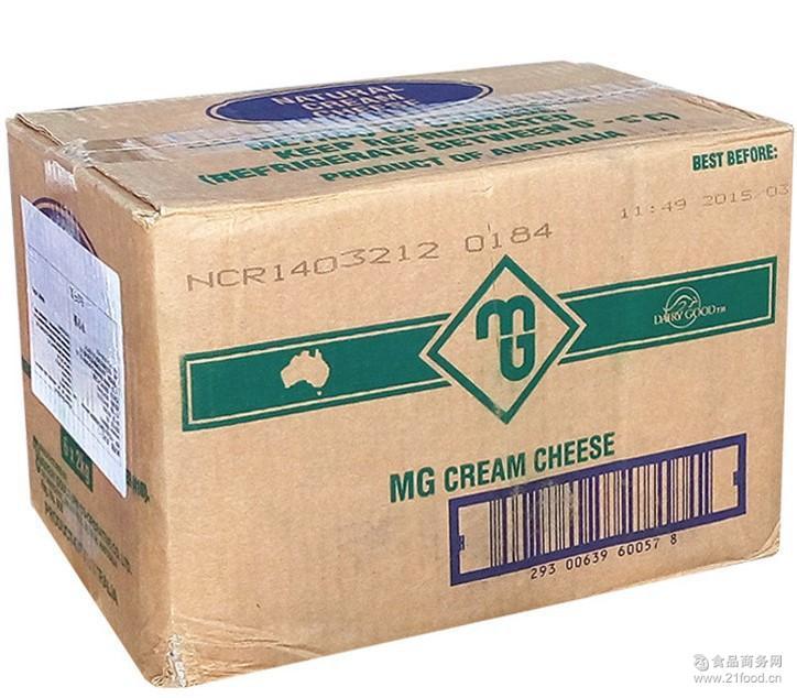 澳大利亚原装进口 MG奶油芝士2kg 烘焙原料