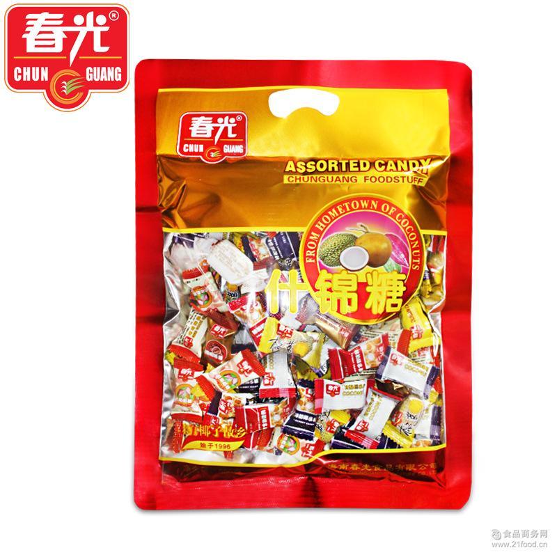 海南特产 春光食品 什锦糖550g多种口味糖果年货大礼包 零售 批发