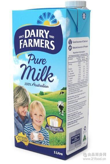 澳大利亚进口 澳田脱脂牛奶1L
