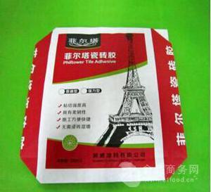 彩印胶印复合外阀口袋 环保纸塑复合袋 强力瓷砖胶编织袋