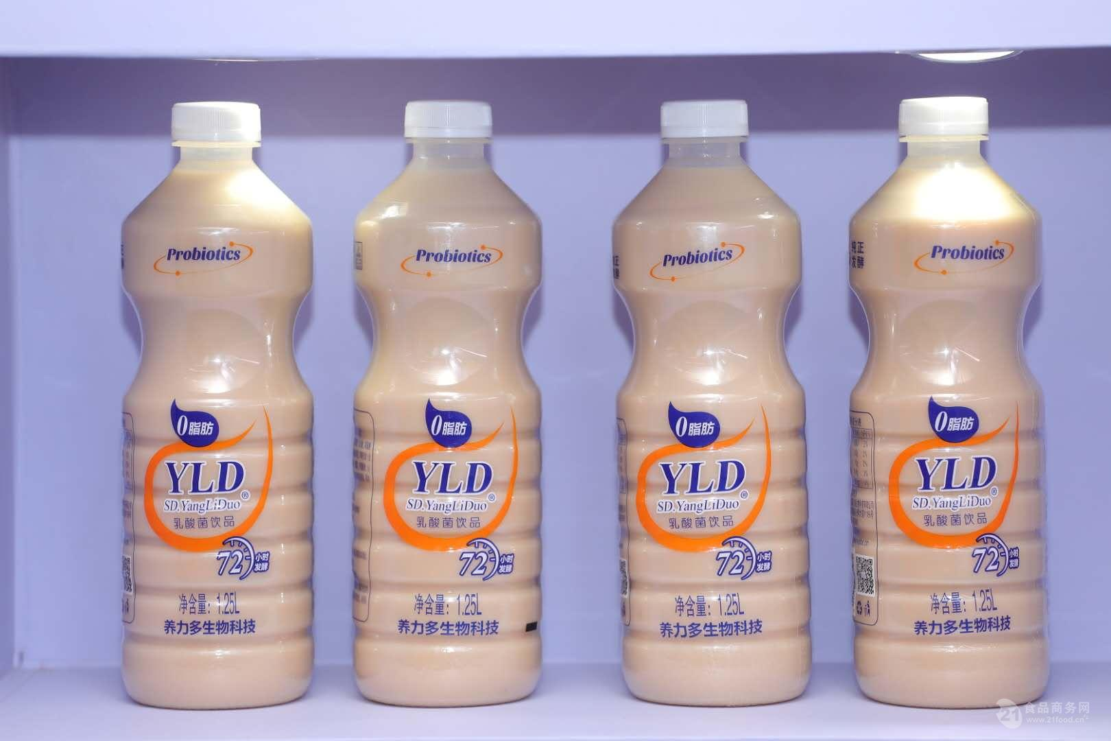 养力多1.25升乳酸菌饮品拧开即饮透明瓶