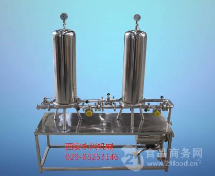 双级过滤系统 可有效滤除滤液中微小颗粒悬浮物精度可打0.1um