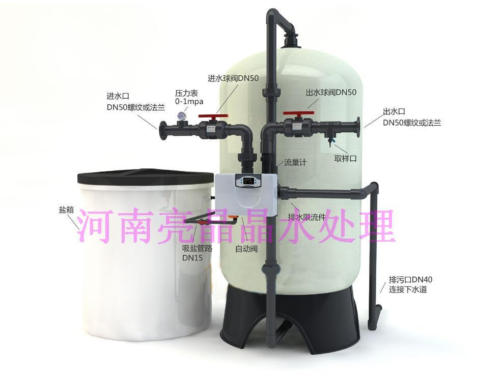 1吨新款全自动软化水设备 全自动锅炉软化水设备 离子交换设备