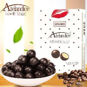 休闲零食圆形朱古力批发 好遇食品麦丽素纯可可脂巧克力90g牛奶味