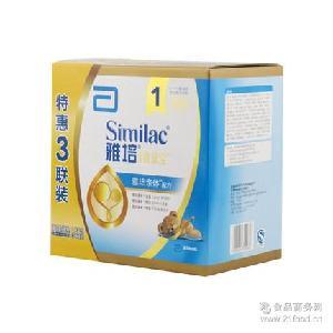 1*4 雅培亲体三联包金装喜康宝婴儿奶粉1200g一段1段