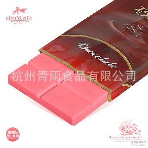 厂家直销巧克力大块代可可脂烘焙原料批发DIY手工巧克力草莓味