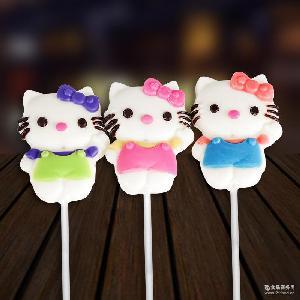 巧克力棒棒糖 订做简装非喜糖专用食品巧克力 35gKT猫棒棒糖