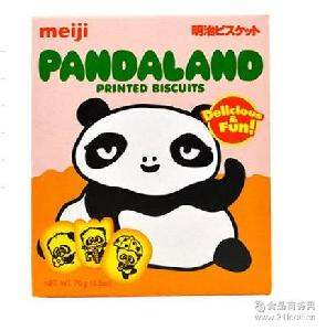 新加坡原装进口零食 meiji/明治 明治熊猫乐园儿童卡通饼干