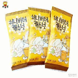 韩国进口零食 汤姆农场蜂蜜黄油腰果 30g 袋 混合坚果仁