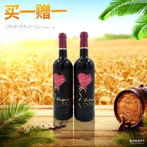 莫泊桑挚爱干红葡萄酒 瓶装750ml*6瓶装包邮 国内现货进口葡萄酒