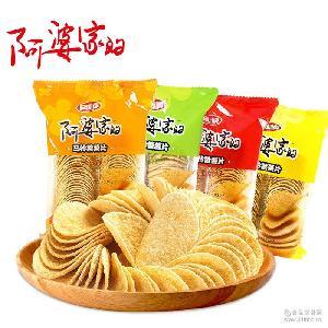 風順阿婆家的油炸薯片110g/包 休閑膨化食品復合薯片批發微商代發
