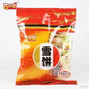河南产地货源 儿童休闲零食 办公室零食膨化食品批发 雪米饼88g