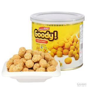 越南进口戈蒂玉米味脆皮花生豆150g 办公室罐装休闲零食批发