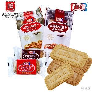 上海利拉经典风味酥性饼干黑糖焦糖味100g*40袋早餐咖啡伴侣