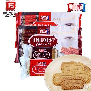 上海利拉酥性饼干黑糖焦糖味升级包装400g*12袋经典风味早餐咖