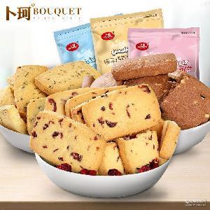 卜珂蔓越莓曲奇饼干200g/袋4种口味休闲零食批发链接量大另议
