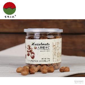 秀绿山也 特产坚果零食 200g盒装 批发 平欧大果生(熟)榛子仁