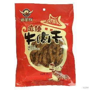 五香 24袋/箱 遛洋狗牛肉干150g麻辣 四川特产