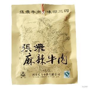 麻辣 五香 牛肉干休闲零食 30袋/箱 香辣 原味 张飞牛肉58g
