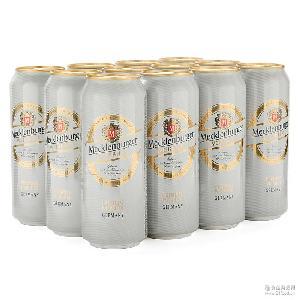 德國原裝進口梅克倫堡小麥白啤酒500ml口感順滑5.1度批發夏季促銷