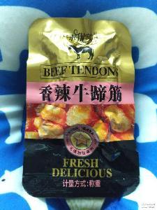 香辣牛蹄筋肉类零食500g零添加有嚼劲辣到味真材实料厂家直销