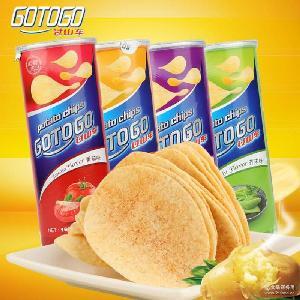 膨化零食 進口薯片批發 馬來西亞過山車馬鈴番茄芥末燒烤薯片160g