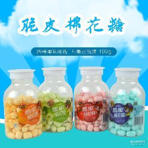 草莓糖果 香港樂滋圆罐装休闲儿童零食 脆皮棉花糖果多口味