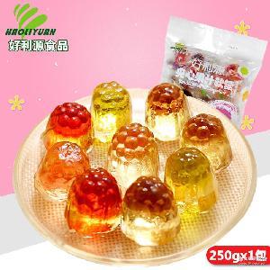 好利源夹心果汁软糖250g水果汁橡皮糖多口味零食休闲情人节喜糖