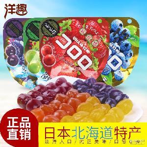 日本进口批发 袋悠哈味觉糖 UHA 悠哈果汁软糖QQ水果糖40g