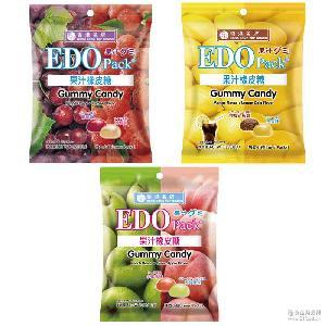 Pack 果汁橡皮糖(柠檬可乐味+芒果味)水果软糖 休闲零食品 EDO