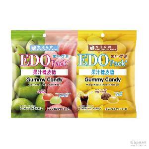 Pack果汁橡皮糖 柠檬可乐芒果 两种口味混发 EDO 水蜜桃青苹果味