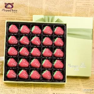 直销哈比利甜蜜蜜纯可可脂手工DIY草莓巧克力礼盒情人节礼物