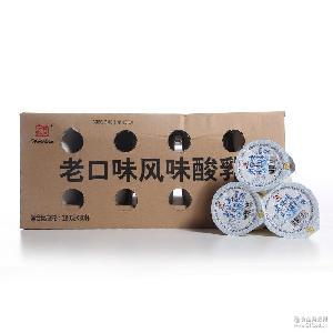 辉山老口味风味酸乳原味凝固型180g*30/箱特浓酸牛奶乳酸菌饮品