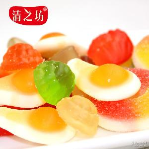 清之坊零食批发 百变外形独特风味250g 多味橡皮糖QQ糖混合装