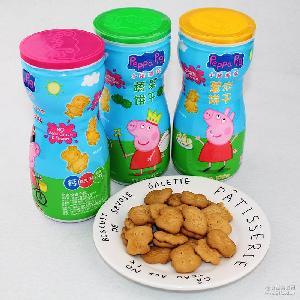 小猪佩奇蔬菜薏米山楂饼干100g瓶儿童卡通零食小猪佩奇薏米山楂饼