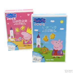 小猪佩奇曲奇牛奶蔓越莓饼干80g儿童零食饼干批发小猪佩奇曲奇饼