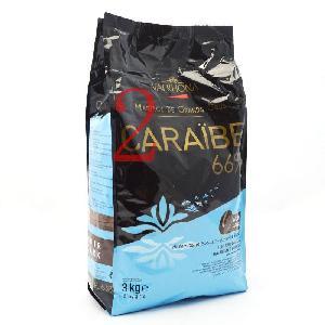 VALRHONA/法芙娜 3kg原装 法国进口 66%可可脂 加勒比黑巧克力币
