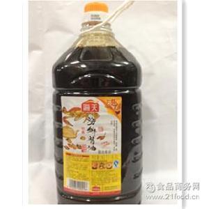 鲜甜 佛山生产 供应 好吃 海天海鲜酱油 *子 4.9L *2桶