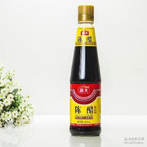 清香濃郁口感醇厚 釀造陳醋 醬油 海天陳醋450ml*12瓶