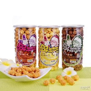 四味可選 奶香爆米花 美式爆米花 膨化休閑食品批發 桶裝爆米花