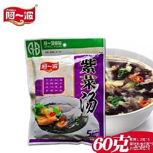 阿一波紫菜汤排骨味60g袋速食汤即食紫菜汤冲泡即食