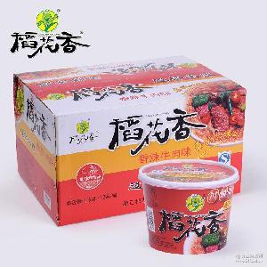 稻花香桶装香辣牛肉味过桥米线 速食食品 方便米粉 厂家直销批发