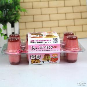 日月潭草莓味焦糖果酪430g*12盒/箱 休闲零食品 果冻批发